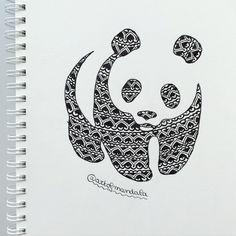 Epic Web Find: Let This Visual Stimulation Inspire your Meditation Sharing is Caring Dont forget them #wwf #panda #drawing #dessin #art #artist #illustration #sketch #doodle #animal #mandala #mandaladesign #mandalatattoo #blackandwhite #cute #kawaii by artofmandala instagram