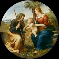 (Raphael) Raffaello Santi - The Holy Family with the palm