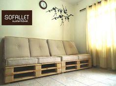 Sofallet para sala de estar. 2 módulos.  #Sofallet #pallet #sutentavel #sofadepalete #sofadepallet #artesanal #exclusivo