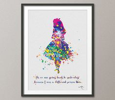 Alice in Wonderland inspired Watercolor Print by CocoMilla on Etsy