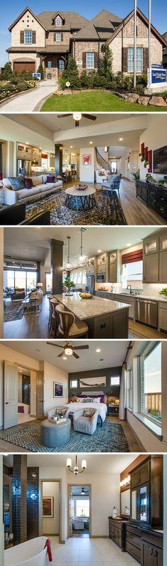 The Pinecrest is a sleek four bedroom home located in Prosper, TX. #dallas #awardwinning #brick #stone#davidweekleyhomes