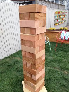 A #DIY that both kids and adults will love: an outdoor giant wooden puzzle game #CousinsUndercover