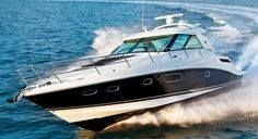 Sea Ray 450 Sundancer Boat - Seatech Marine Products / Daily Watermakers One day! Cruiser Boat, Cabin Cruiser, Best Yachts, Luxury Yachts, Luxury Boats, Speed Boats, Power Boats, Sea Ray Boat, Small Yachts