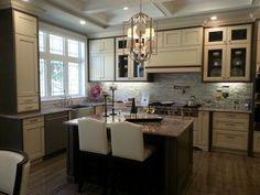 Hickory Kitchen Cabinets Decor Ideas  #kitchencabinets #kitchencabinets Hickory Kitchen Cabinets, Kitchen Cabinets Decor, Kitchen Cabinet Design, Two Tone Kitchen, Beautiful Kitchens, Table, Decor Ideas, Furniture, Cream