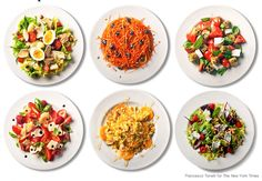 Step outside the box with these 101 salad ideas from Mark Bittman.  Most, but not all are low-carb and sound amazing! http://www.nytimes.com/2009/07/22/dining/22mlist.html?em&_r=0