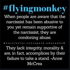 The Narcissist's Flying Monkeys - Strip Club Journals Narcissistic People, Narcissistic Mother, Narcissistic Abuse Recovery, Narcissistic Behavior, Narcissistic Sociopath, Narcissistic Personality Disorder, Toxic Family, Emotional Abuse, Amor