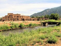 Taos Pueblo, Taos Pueblo, New Mexico - Taos Pueblo is a UNESCO...