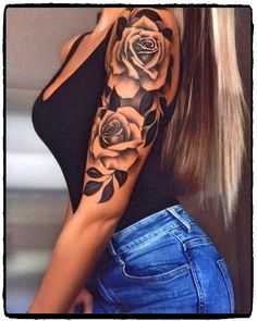 Rose Sleeve Tattoo For Men ` Rose Sleeve Tattoo – tattoos for women half sleeve Dope Tattoos, Subtle Tattoos, Badass Tattoos, Music Tattoos, Maori Tattoos, Mgk Tattoos, Kunst Tattoos, Chicano Tattoos, Indian Tattoos