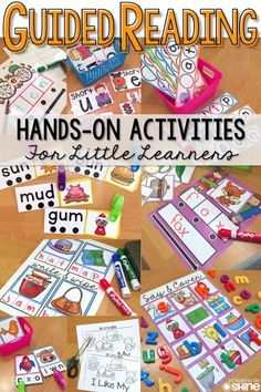 Guided Reading Activities. SO many ideas for small reading groups. Perfect to RTI, guided reading, and centers! This post even includes a FREEBIE sample!