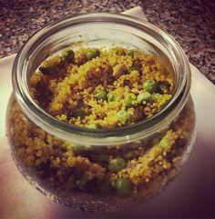 Quinoa con pisellini e vongole al profumo di zafferano in #vasocottura