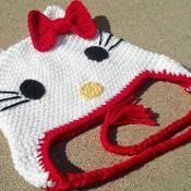 Hello Kitty Hat / Beanie - via @Craftsy