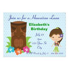 Tiki God Luau Party Invite