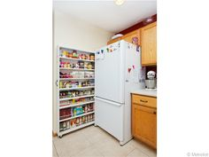 Pantry for a small kitchen. Genius!