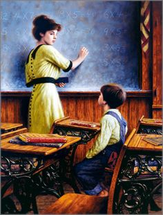 After School Lessons, by Jim Daly (American, b. 1940)