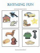 Fun rhyming worksheets for preschoolers!