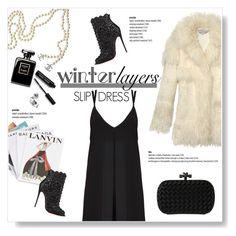 """Winter Layers: Slip Dress"" by viola279 ❤ liked on Polyvore featuring Alice + Olivia, Chanel, STELLA McCARTNEY, Assouline Publishing, Christian Louboutin, Bottega Veneta, Bobbi Brown Cosmetics, women's clothing, women's fashion and women"