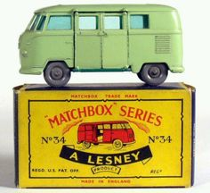 Vintage Matchbox VW Bus