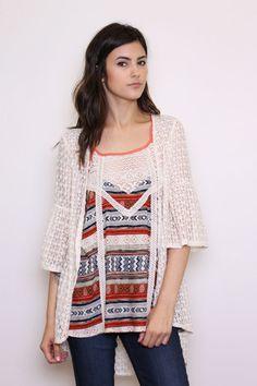 Love & Lace Bell Sleeve Kimono