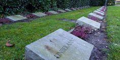 Das Gräberfeld auf dem Waldfriedhof mit ausländischen Opfern von Krieg und NS-Terror: Zwangsarbeiter, Kriegsgefangene, aber auch Zivilisten.