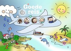Ansichtkaart Vakantie #vakantie #vliegtuig #reizen #zomer #postkaart #hipenstipkaarten
