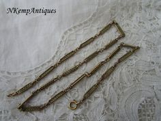 Antique chain necklace by Nkempantiques on Etsy