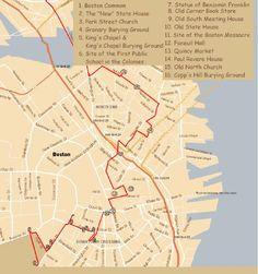Boston Freedom Trail Map | Boston 4月4日(日)