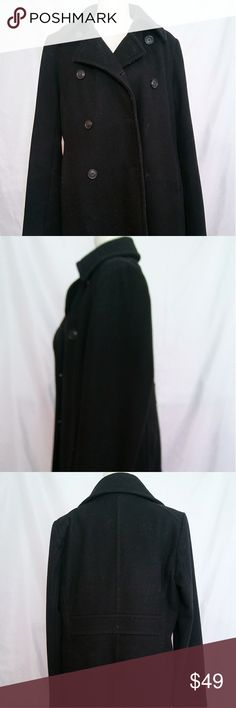 J. Crew wool Harbor Peacoat J.Crew wool Harbor peacoat in the color black. Good condition except two of the buttons are missing. There are additional buttons on the inside that can be used to replace it. Size txl with thinsulate. J. Crew Jackets & Coats Pea Coats
