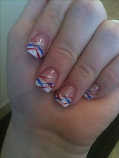 My Fourth of July nails!!!