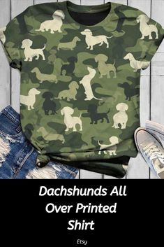 All over printed dachshund , pet, pet shirt, pet gift, dog mom, dachshund,mothers day, funny t shirt, personalised t shirts, t shirt gifts #affiliate #ad #dachshund #tshirt #tshirtdesign #doxie #doglovers #dogmom #giftideas #wienerdog #weeniedog Pet Pet, Weenie Dogs, Personalized T Shirts, Dachshunds, Dog Gifts, Cute Tops, Dog Mom, Funny Tshirts, Dog Lovers