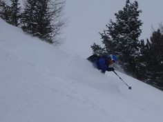 Sun has given way to snow and there is a lot of it. Day two of powder skiing in Chamonix. You either pretend you can see or head for the trees. More snow daily Snowboarding, Skiing, Winter Running, Ski Chalet, Outdoor, Mont Blanc, Ski, Outdoors, Snow Board