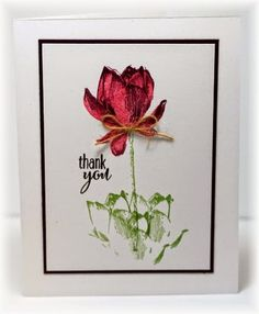 thank you card by Becky