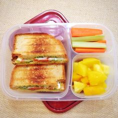Grilled sammie packed for lunch!   with @Easylunchboxes containers