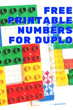 Free printable counting activity for DUPLO blocks. Count to 10 with DUPLO in your preschool math activities. Kindergarten Math Activities, Educational Activities For Kids, Counting Activities, Preschool Math, Stem Activities, Kids Learning, Space Activities, Free Printable Numbers, Free Printables