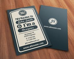 business card. Hi im a designer