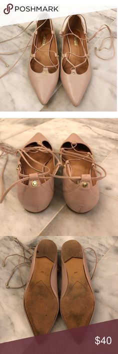 """57e7577afb27a8 Halogen Lace Up """"Owen"""" Flats """"Owen"""" Pointy Toe Gillhie Flat by Halogen"""