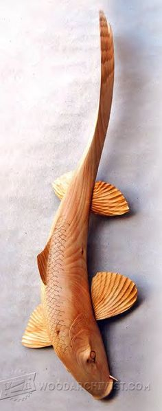 Carving Koi Carp - Wood Carving Patterns and Techniques | WoodArchivist.com