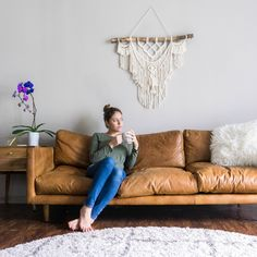 Hashtag chilling / Mid Century Modern Furniture  Article Nirvana Couch