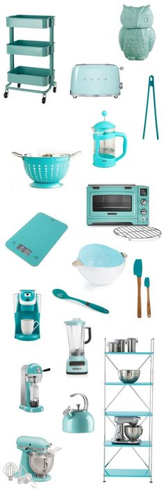 My Favorite Resources For Teal Kitchens   Teal Kitchen Utensils, Teal Kitchen  Appliances, Teal Kitchen Accessories, And Teal Kitchen Storage Ideas For ...