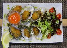 Breaded oysters, Cascas Restaurant, Olhão, Algarve, Portugal