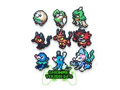 Pokemon Sun and Moon Generation 7 Starters by ShowMeYourBits