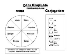 Spanish Verb Conjugation Game- Regular Present Ar Verbs