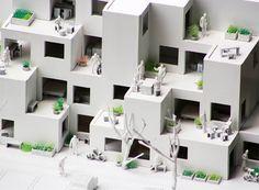 Pinned by www.modelina-architekci.com fala atelier: alvenaria modular social housing, lisbon