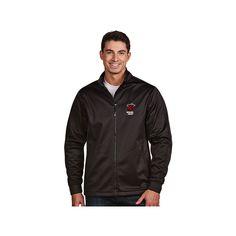 Men's Antigua Miami Heat Golf Jacket, Size: Medium, Grey (Charcoal)