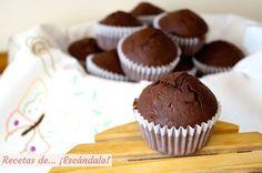 Receta de magdalenas de chocolate, caseras y esponjosas