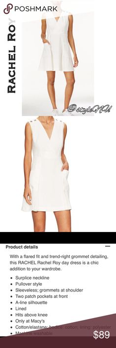🆕 Rachel Roy Grommet A Line Dress You will want this dress in your wardrobe as it is so chic and stylish, can be worn anywhere! Wear alone, throw on a belt, scarf, blazer, change your style of shoes 👠 to make such versatility from one dress 👗. Sold out in stores! Get it here! New with tags! Rachel Roy Dresses