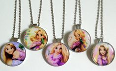 5 Tangled Rapunzel Silver Coloured Bezel Pendant by OliverandMay  www.oliverandmay.etsy.com