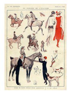 Giclee Print: La Vie Parisienne, L Vallet, France Art Print : Horse Art, Art Prints, La Vie Parisienne, Animal Art, Canvas Prints, France Art, Art, Vintage Poster Art, Vintage Horse
