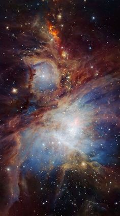 APOD: 2016 July 18 - The Orion Nebula in Infrared from HAWK I Catalogued as at a distance of 1300 light years, the Orion Nebula is the closest major star forming region to Earth. Hubble Pictures, Hubble Images, Nebula Wallpaper, Galaxy Wallpaper, Hubble Space Telescope, Space And Astronomy, Arte Do Sistema Solar, Fotos Do Hubble, Cosmos
