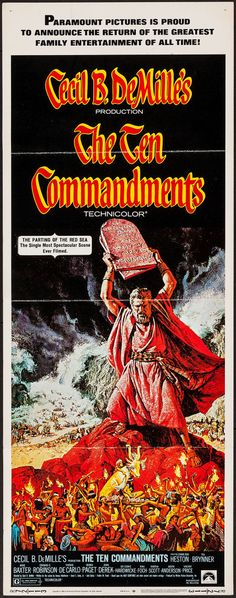 Movie Posters:Drama, The Ten Commandments (Paramount, R-1972). Insert (... Image #1