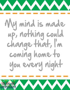 "Lyric Art - ""Every Night"" Imagine Dragons"